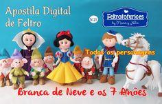 Kit com 5 Apostilas  (Branca de Neve, Os 7 Anões, O Principe, O Cavalo e a Rainha Má) Link para adquirir: http://www.mamaynena.com.br/apostila-branca-de-neve-ct-17bb1e