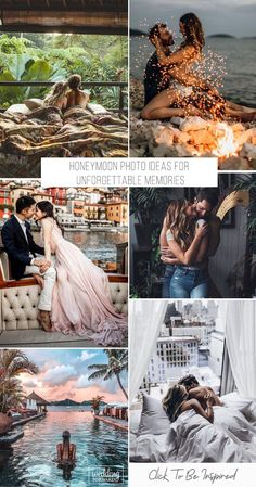 Honeymoon is a fabulous time. Each couple wants to spend it brightly and romantically. Save the memories of the best journey in your life to help our honeymoon photo ideas. Best Honeymoon Spots, Best Honeymoon Destinations, Romantic Honeymoon, Honeymoon Ideas, Honeymoon Photography, Wedding Photography Tips, Wedding Poses, Wedding Bride, Wedding Night