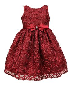 Look at this Jayne Copeland Red Embroidered Lace Dress - Toddler & Girls on #zulily today!