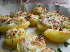 Baked Potato, Potato Salad, Food And Drink, Potatoes, Baking, Breakfast, Ethnic Recipes, Morning Coffee, Bakken