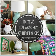 10 Items I Always Buy at Thrift Shops - Refunk My Junk. Um.... I need that owl vase NOW!!!!!