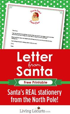 Last minute wrapping here are some free printable christmas tags letter from santa letter from santa free printable santa stationery from the north pole negle Choice Image