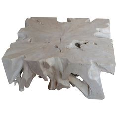 For Sale on - Single root coffee table hand-carved in to this usable shape. The St. Barts collection features an exciting new line of organic white wash and natural Resin Furniture, Table Furniture, Furniture Design, Wood Table Rustic, Organic Modern, White Sand Beach, Teak Wood, Cocktail Tables, St Barts