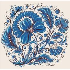 osminog888 #vector #art #петриковка #цветы #karakuley_paket  #graphics