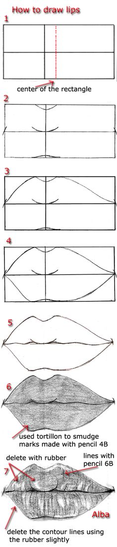 Tutorial draw lips 3 by lamorghana on deviantART