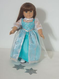 Frozen Elsa Doll Clothes  for 18 Inch American Girl Doll