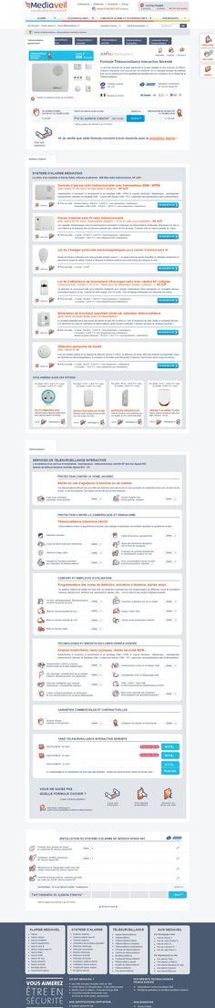 Realisation du site internet Mediaveil . Formule de télésurveillance sérénité. #Webdesign