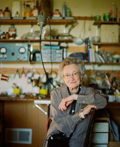 Studio/workshop of June Schwarcz, enamel artist. (Leslie Williamson photograph). I hope to get this old and still be making art and crafts.