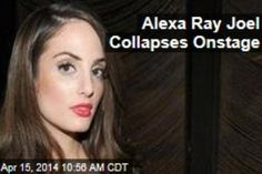 Latest News:  Alexa Ray Joel Collapses Onstage.  Alexa Ray Joel was playing a sold-out show at New York's Cafe Carlyle when she collapsed onstage and was rushed to the emergency room Saturday night.  Get all the latest news on your favorite celebs at www.CelebrityDazzle.com!