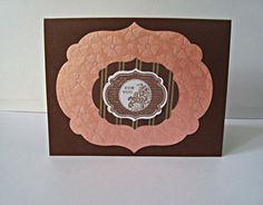 For You Chocolate Peach handmade card by Wcards on Etsy, $3.00