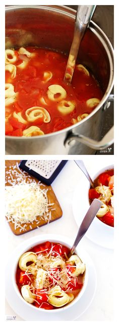 5-Ingredient Easy Tortellini Soup -- ready to go in just 20 minutes! | gimmesomeoven.com #italian #soup #recipe