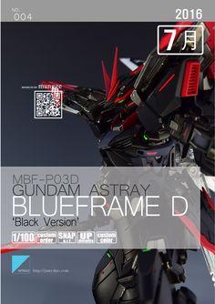 GUNDAM GUY: MG 1/100 Astray Blue Frame D [Black Ver.] - Customized Build