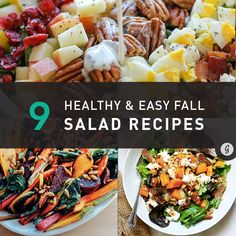 Full of the season's best flavors (Butternut squash, Brussels sprouts, cranberry, apple, maple... #healthy #salads #fall http://greatist.com/eat/healthy-fall-salad-recipes