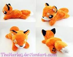 Small Orange Fox Plush by TheHarley on DeviantArt Japanese Fox Mask, Sewing For Beginners, Dinosaur Stuffed Animal, Stuffed Animals, Reindeer, Spider, Pikachu, Sewing Projects, Sewing Patterns