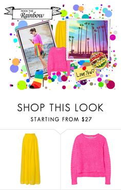 """Rock the Rainbow"" by theworldisatourfeet ❤ liked on Polyvore featuring Rebecca Taylor, women's clothing, women's fashion, women, female, woman, misses, juniors and RockTheRainbow"