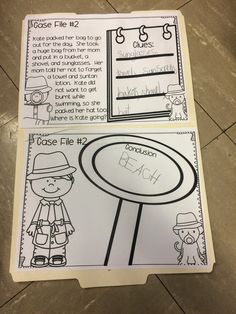 Drawing Conclusions in first grade--interactive activity for small groups to draw conclusions with Detective Dan and Inspector Spot