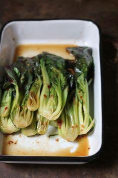 Stir-fry Bok Choy The Seasonal Palate Veggie Recipes, Asian Recipes, Cooking Recipes, Healthy Recipes, Sandwiches Gourmets, Bok Choy Stir Fry, Pak Choi, Good Food, Yummy Food