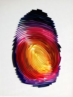 A current on-going project of mine is taking the most personal part of someone's physical identity - their thumbprint - and rendering it in one of the most delicate and beautiful art forms, quilling.