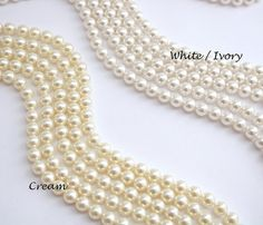 Wedding Necklace Pearl Crystal Necklace Bridal Pearl