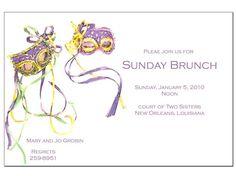 Mardi Gras Mask Invitation Cardstock