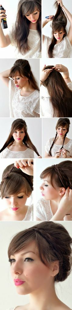 DIY : Style Braided Updo Hairstyle