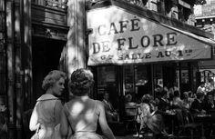 Le Café de Flore, Paris, 1959 by Bernard Lipnitzki