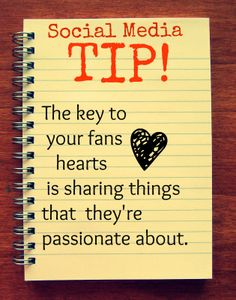 Remember: Your fans are most likely passionate about what your business or organization provides - and don't forget Facebook is first and foremost a social gathering place for individuals to share their passions. The key to your fans' hearts is sharing things that they're interested in.     Focus on starting a conversation, not advertising your services.