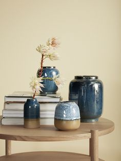 Blue is one of the strongest colours for so this pretty blue glazed vase from Danish interior brand Hübsch is the perfect detail for your home to add colour & texture. Composition: Ceramics Colour: Blue and stone Dimensions: x Decor Interior Design, Interior Decorating, Danish Interior, Side Coffee Table, Round Table Top, Ceramic Vase, Glazed Ceramic, Home Decor Inspiration, Modern Decor