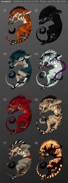 Leoraptors - character auction OPEN by akreon.deviantart.com on @deviantART