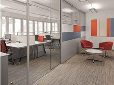 Mampara divisoria de vidrio de oficina R-Plattform
