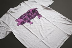 ANIMAL T-SHIRT 1 of 3 prints available on white, black, natural or grey 100% organic cotton (heated)
