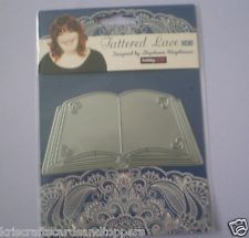 Stephanie Weightman Tattered Lace OPEN BOOK Die   NEW ~ FAST 1st Class P&P
