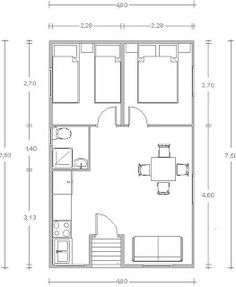 Get the plans to build your own small home or shed! 2 Bedroom House Plans, Small House Plans, Tiny Spaces, Small Apartments, 500 Sq Ft House, Shipping Container House Plans, Container House Design, Cabin Plans, Modular Homes