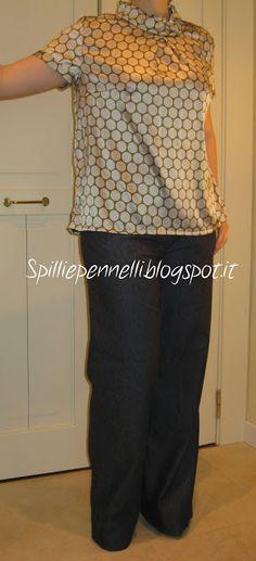 Tailored silk shirt & trousers