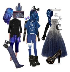 """""""Princess Luna"""" by the-problematicfave ❤ liked on Polyvore featuring My Little Pony, Worthington, Red Herring, Charlotte Russe, NYDJ, ASOS, Motel, Zable, Jewel Exclusive and Naughty Monkey"""