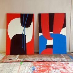 Paul Kremer became a fan at Untitled Miami 2014 # Illustration Arte, Illustrations, Painting Inspiration, Art Inspo, Modern Art, Contemporary Art, Tableau Pop Art, Grafik Design, Minimalist Art