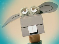Learn how to make a Box Puppet! What fun! Great idea for an animal themed kids party!