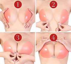 how to use Dressystar Silicone Invisible Strapless Push-up Gel Bra
