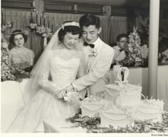 1957 They are SOooo cute! Look at her dress!