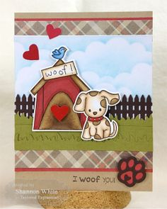 I Woof You Card by Shannon White #Cardmaking #Critters, #ValentinesLove,