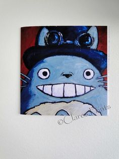 Steampunk Totoro Blank Greeting Card From my Original Acrylic Painting £1.50