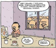 Sanatçı ve Toplum Karikatürü Özer Aydoğan | Karikatürname