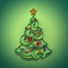 paper quilling Christmas tree