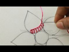 hand embroidery tutorial with checkered stitch and french knot Hand Embroidery Videos, Hand Embroidery Flowers, Embroidery Stitches Tutorial, Flower Embroidery Designs, Creative Embroidery, Hand Embroidery Patterns, French Knot Embroidery, Cross Stitch Embroidery, Cushion Embroidery