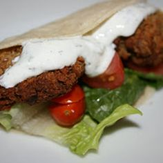Crock Pot Falafel- Family and friend favorite. VERY easy. I serve mine with lettuce, tomato, and sour cream