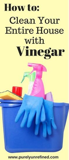 How to Clean Your Entire House with Vinegar | Natural Cleaning | Clean Cleaning