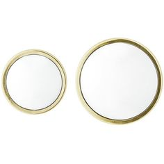 Bloomingville Art Deco Round Mirror - Gold - Set of 2 (175 CAD) ❤ liked on Polyvore featuring home, home decor, mirrors, gold, gold home accessories, convex wall mirror, gold home decor, handmade home decor and gold wall mirror #handmadehomedecor