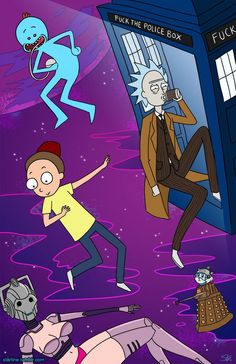 Doctor Who - Rick and Morty Rick And Morty Crossover, Rick I Morty, Matt Smith, Me Tv, Dr Who, Doctor Who, Fandoms, Bob, Geek Stuff