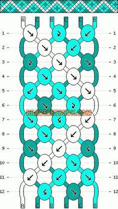 Normal friendship bracelet pattern added by CWillard. zig zag line dots diamonds. Thread Bracelets, Bracelet Knots, Woven Bracelets, Bracelet Crafts, String Bracelet Patterns, Diy Friendship Bracelets Patterns, String Friendship Bracelets, Diy Accessoires, Summer Bracelets