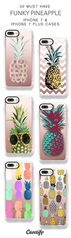 30 Must Have Funky Pineapple Protective iPhone 7 Cases and iPhone 7 Plus Cases. More Fruit iPhone case here > https://www.casetify.com/collections/top_100_designs#/?vc=kf2MQsYtoe